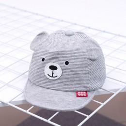 Nowy Cartoon niedźwiedź dzieci kapelusz wiosna lato dziecko regulowany czapka z daszkiem bawełna Newbron czapki miękkie Sunhat a