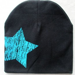 Czapka dla niemowląt jesienno-zimowa czapka dziecięca nadruk gwiazdy czapka ciepłe czapki dla dzieci cieplej