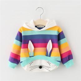 2019 nowa wiosna jesień dziewczynek ubrania bawełna bluza z kapturem Cartoon dzieci odzież sportowa odzież dla niemowląt