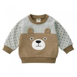 Lew nowonarodzone dziecko chłopcy dziewczęta zimowy śliczny sweter 2019 dziecko długi rękaw luźna koszulka 1-2y dzieci ubrania z