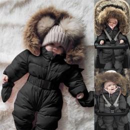 Dziecko zimowe ubrania dla dziewczynki moda noworodek dziewczynka płaszcz zimowy śnieg ubrania dla dzieci chłopiec dziewczyna Ro