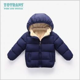 Płaszcz dziecięcy chłopcy kurtki zimowe dla dzieci jesienna odzież wierzchnia bluzy z kapturem dla niemowląt noworodek ubrania d