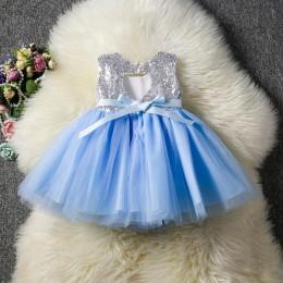 Księżniczka dzieci dziecko fantazyjne ślubne cekiny do sukienki sukienka na formalną imprezę dla dziewczynki Tutu ubrania dla dz