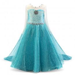 Księżniczka sukienka dla dziewczynek sukienka księżniczki elsy Cosplay dziecięca fantazyjna impreza z okazji halloween kostium k