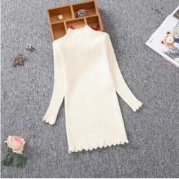 Nowy 2018 jesień zima dziewczyny dzianiny sukienka dzieci ubrania szczupła księżniczka dziewczyny sweter sukienka 2-13Y RT275