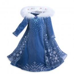 Sukienka dla dziewczynek Elsa sukienka Party Vestidos 2 Cosplay odzież dla dziewczynek Anna królowa śniegu drukuj urodzinowa suk