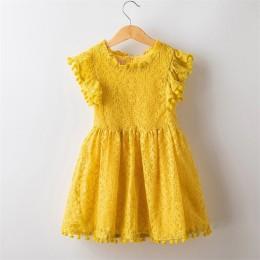 Girls Dress 2019 nowa letnia marka dziewczyny ubrania koronki i wzór kwiatowy dziewczynek sukienka dzieci sukienki dla dziewczyn
