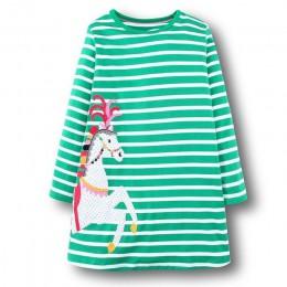 """Dziewczyny sukienka z aplikacja ze zwierzątkiem sukienka """" princeska """"z długimi rękawami kostium dla dzieci Robe Fille dla dziec"""