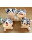 4 wzory, 9CM ok, kot pluszowe wypełnione lalki zabawki brelok do kluczy pluszowy kot