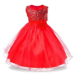 Sukienka dziewczęca dziecięca dla nastolatek balowa tiulowa rozkloszowana do łydek bez rękawów na grubych ramiączkach