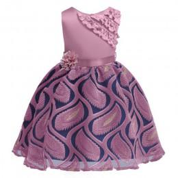 2020 Girls Dress elegancka sukienka księżniczki dzieci sukienki dla dziewczynek kostium Wedding Party suknia dzieci odzież 2 3 6