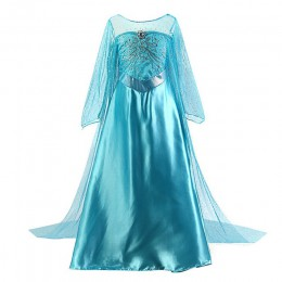 Dziewczyny sukienka księżniczki elsy dzieci kwiat kostium zestaw królowa śniegu 2 Elza urodziny dzieci impreza z okazji hallowee