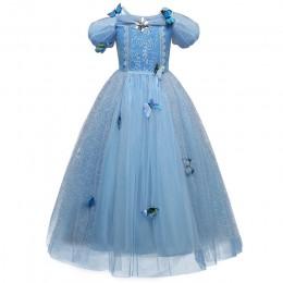 4 7 8 9 10 lat Elsa sukienka dzieci Role-Play kostium księżniczka kopciuszek dziewczyny suknia Party boże narodzenie Cosplay Ves