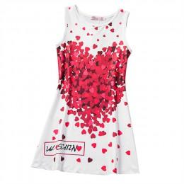 A-line sukienki dziecięce dla dziewczynek odzież drukuj motyle niebieski nastolatek dorywczo dzieci dziewczyna sukienka Vestido