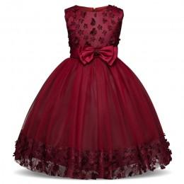 Dziecięce sukienki dla dziewczynek koronkowy haft sukienka świąteczna suknia ślubna dla dzieci odzież dla dzieci sukienki dla dz