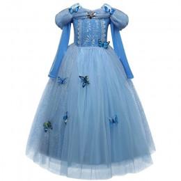 Fantazyjne śpiąca królewna księżniczka Aurora element ubioru kostium imprezowy z długim rękawem 4 warstwy Cosplay długa sukienka