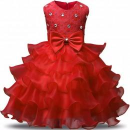 Baby Girl Clothes Kids sukienki dla dziewczynek ubrania świąteczne suknia ślubna Princess Dress przyjęcie noworoczne dzieci prze