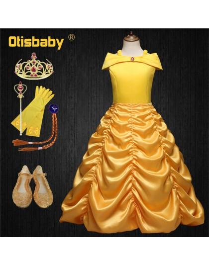 Letnie dziewczyny Belle księżniczka urodziny przebranie wesele sukienka dla dziewczyny suknie balowe dzieci pierwsza komunia odz