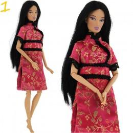 1x moda sukienka dla lalek codzienna odzież spódnica spodnie kamizelka dżinsy płaszcz akcesoria do domku dla lalek odzież na ubr