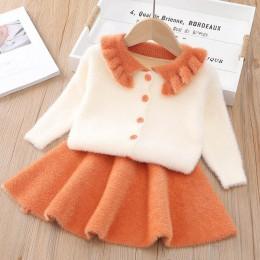 Miś lider Girls Dress nowy zima księżniczka sukienka z długim rękawem dziewczyny ubrania warstwa wierzchnia + Tutu sukienka dla