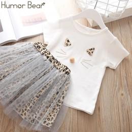 Humor niedźwiedź dziewczyny odzież zestaw perła dziewczyny ubrania zestaw piękne długie rzęsy maluch dziewczyna topy + spodnie d