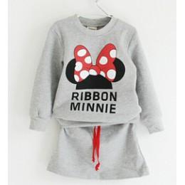 2019 zestaw ubrań dla dzieci wiosna dziewczyny odzież Minnie spódnica z kokardą garnitur ubranie dla dzieci ubranie dla dzieci h
