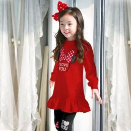 Minnie Mickey wzór dziewczyny odzież ustawia dla dziewczynek ubrania garnitury 2019 kreskówkowe topy + spodnie 2 sztuk kostium d