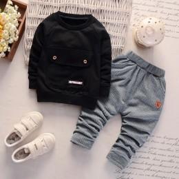 Dzieci chłopcy dziewczęta zestawy odzieżowe bawełniane moda dla dzieci dżentelmen kurtka spodnie 2 sztuk/zestawów wiosna jesień