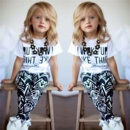 2017 letnie dzieci dziewczyny ubrania zestaw t-shirt + Zebra spodnie stroje dziewczyny garnitur dzieci odzież ustawia 2-9 lat
