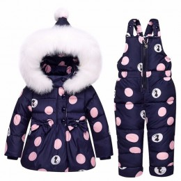 2019 nowe zimowe dzieci zestawy odzieżowe dziewczyny ciepła parka dół kurtka dla baby girl odzież dla dzieci płaszcz odzież na ś