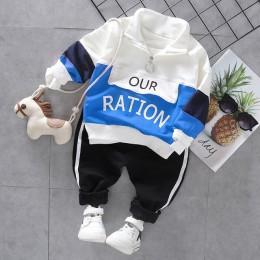 Moda maluch Baby Boy Girls zestaw odzieży na co dzień stroje wiosna jesień chłopcy ubrania sportowe dresy dla dzieci odzież