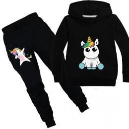 Jednorożec bluzy dziecięce bluzy moda dziecięca z kapturem T Shirt dla dzieci małe dziewczynki płaszcz ubrania dla dzieci chłopc