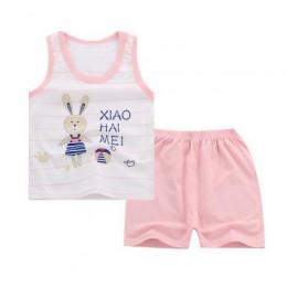 Letnia odzież dziecięca bawełniana dziecięca garnitur z kamizelką chłopięca kamizelka bez rękawów + spodenki dwa komplety