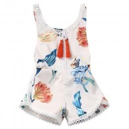 Baby Romper!! bawełna noworodek dziewczynka bez rękawów kwiatowy Print Romper kombinezon kwiatowy letni strój kąpielowy strój ką