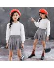 Komplet dziecięcy dla dziewczynki spodnie bluzka wygodny oryginalny dwuczęściowy klasyczny elegancki