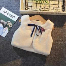 LILIGIRL 4.29 $ of Girls Fur Vest kurtki 2019 nowe dziecko dzieci jesień sierść królika kamizelki kamizelka dla dzieci odzież wi
