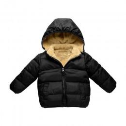 COOTELILI polarowe zimowe parki dziecięce kurtki dla dziewczynek chłopcy ciepły gruby aksamitny płaszcz dziecięcy odzież wierzch