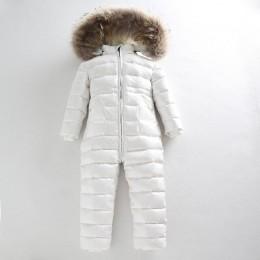 -30 rosyjski zimowy kombinezon 2019 chłopiec kurtka dziecięca 80% puch kaczy odkryty odzież dla niemowląt dziewczyny wspinaczka