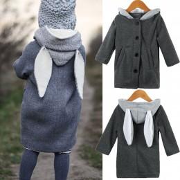 Dziecięce dziewczynek zimowe ciepłe bawełniane bluzy z kapturem znosić płaszcz kurtka na guziki płaszcz 1-5T kurtka dla dziewczy