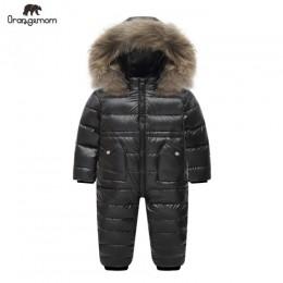 Stopień rosyjska zimowa odzież dziecięca dół kurtki chłopcy odzież wierzchnia płaszcze, zagęścić wodoodporne kombinezony odzież