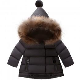 Płaszcz dziecięcy dziewczynek płaszcze zimowe długi płaszcz z rękawami dziewczęca ciepła kurtka dziecięca zimowa odzież wierzchn