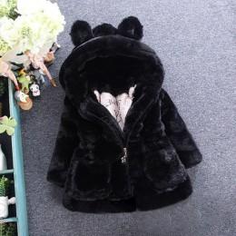 Menoea dziewczyny płaszcze moda zima ciepłe pogrubienie dzieci znosić uszy z kapturem płaszcz dziewczyny kostium stałe dzieci od