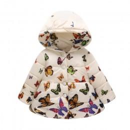 Kurteczki zimowe jesienne dla dzieci niemowląt dla dziewczynki chłopca ciepłe puchowe z kapturem