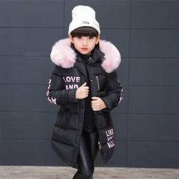 Dziewczyna kurtka zimowa dziecięca kurtka ocieplana dla dzieci ubrania wyściełane bawełną kurtka zimowa dziewczyna Park żywy zim