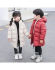 2019 zimowa odzież dziecięca chłopcy i dziewczęta długa kurtka dziecięca gruba kurtka ciepła kurtka nadaje się na mroźna zima