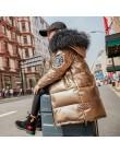 2019 moda marka dziewczyna dół kurtki ciepłe dziecko dzieci długa parka płaszcz futro Kid nastolatek pogrubienie odzieży dla mro