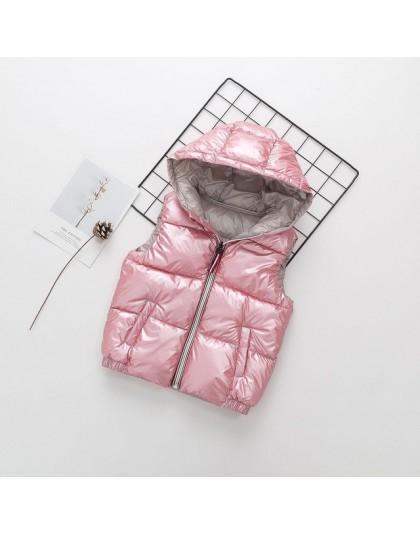 Dziecko kamizelka dziecięca odzież wierzchnia zimowe płaszcze odzież dziecięca ciepła bluza bawełniana chłopięca i dziewczęca ka