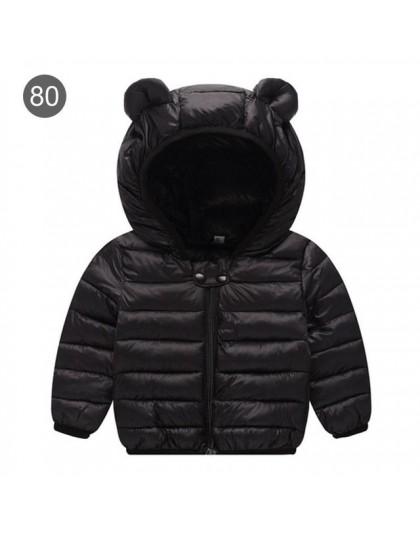 Płaszcze zimowe dla dzieci z kapturem kurtka pikowana dla niemowląt chłopcy dziewczęta kurtka zimowa dla dzieci Bokep Baby Coat