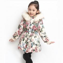 Nowa jesienno-zimowa dziewczyny płaszcz bawełna dziewczyny kurtka grube sztuczne futro ciepłe kurtki dla dziewczynek ubrania pła