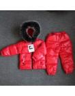 Orangemom rosja zimowe zestawy ubrań dla dzieci, ubrania dla dziewczynek na sylwestra chłopcy parka kurtki dla dzieci płaszcz dó